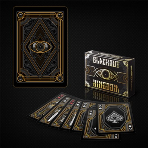 Bicycle Blackout kingdom deck - Gold