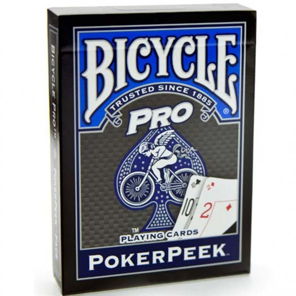 jeu Bicycle POKERPEEK bleu