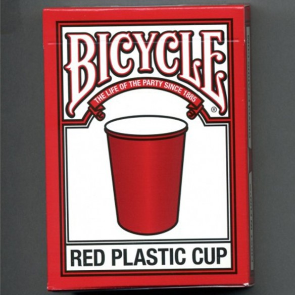 jeu Bicycle RED PLASTIC CUP