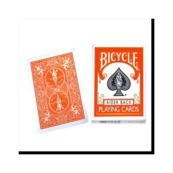 Jeu bicycle dos orange